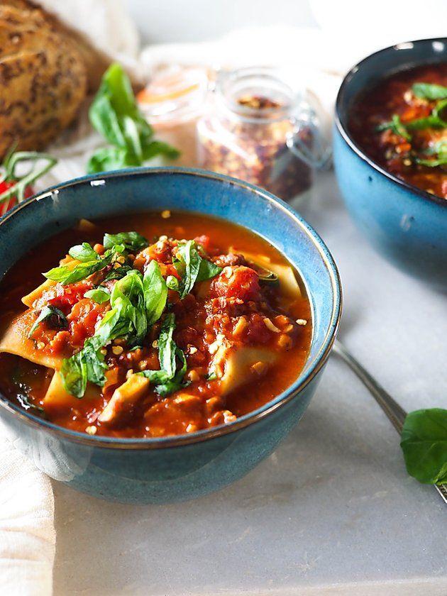 lasagne suppe vegetarisch