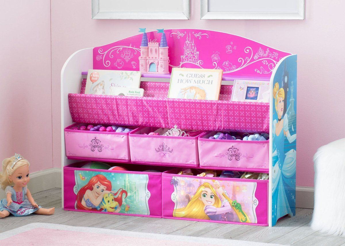 Princess Deluxe Book Toy Organizer Toy Organization Disney Princess Room Disney Princess Room Decor