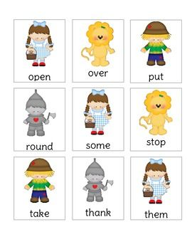 words to make with letters wizard of oz dolch 1st grade list sight word dose 25745 | 68d25745cdbc931d2d767a09b28ca957