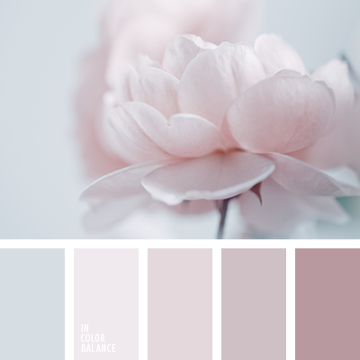 burdeos grisáceo, color lila, color lila pálido, colores estilo shabby chic, gris y rosado, gris y rosado grisáceo, lila grisáceo, matices monocromáticos del rosado, paleta de colores estilo shabby chic, paleta de colores monocromática, paleta de colores pastel monocromática, paleta del color