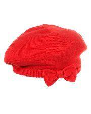 Italian red sweater beret