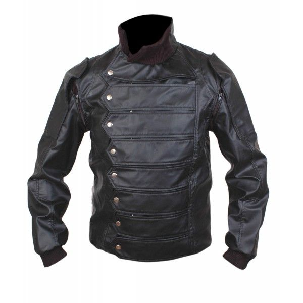 Captain America Winter Soldier Bucky Barnes Vest Jacket with Removable Arms