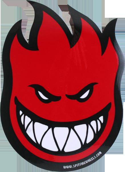 Spitfire (fireball) sticker medium (assorted colors