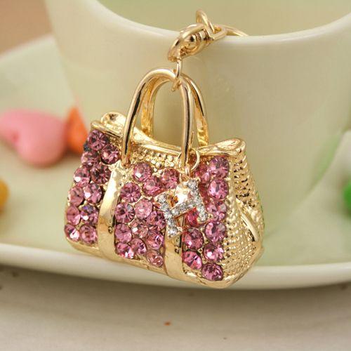 08ab407594bd PRO ACME Fashion Crystal handbag alloy keychain ring Holder for Women Girl  Jewelry Purse Charm Pendant PWK0099  Affiliate