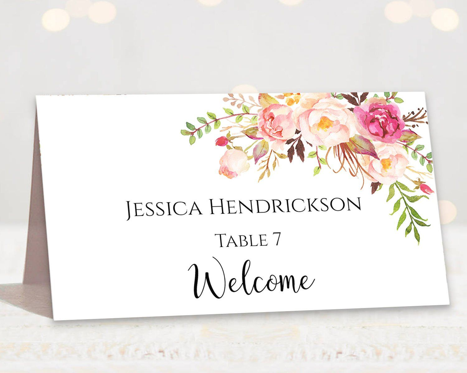 This Item Is Unavailable Etsy Wedding Place Cards Place Card Template Card Table Wedding