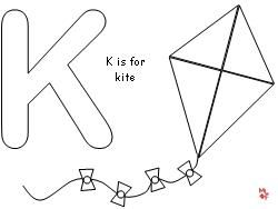 Kite Color Sheet Pre KColorPrintable Coloring Pages Free Download