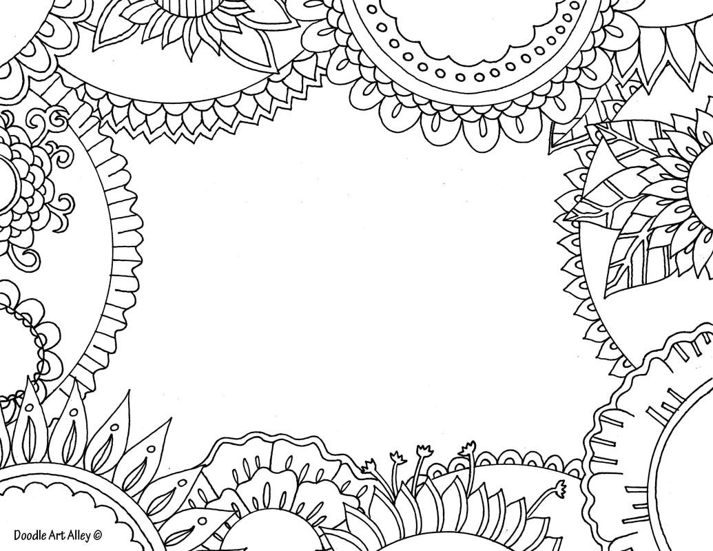 Name Templates Coloring pages Doodle Art Alley Doodle