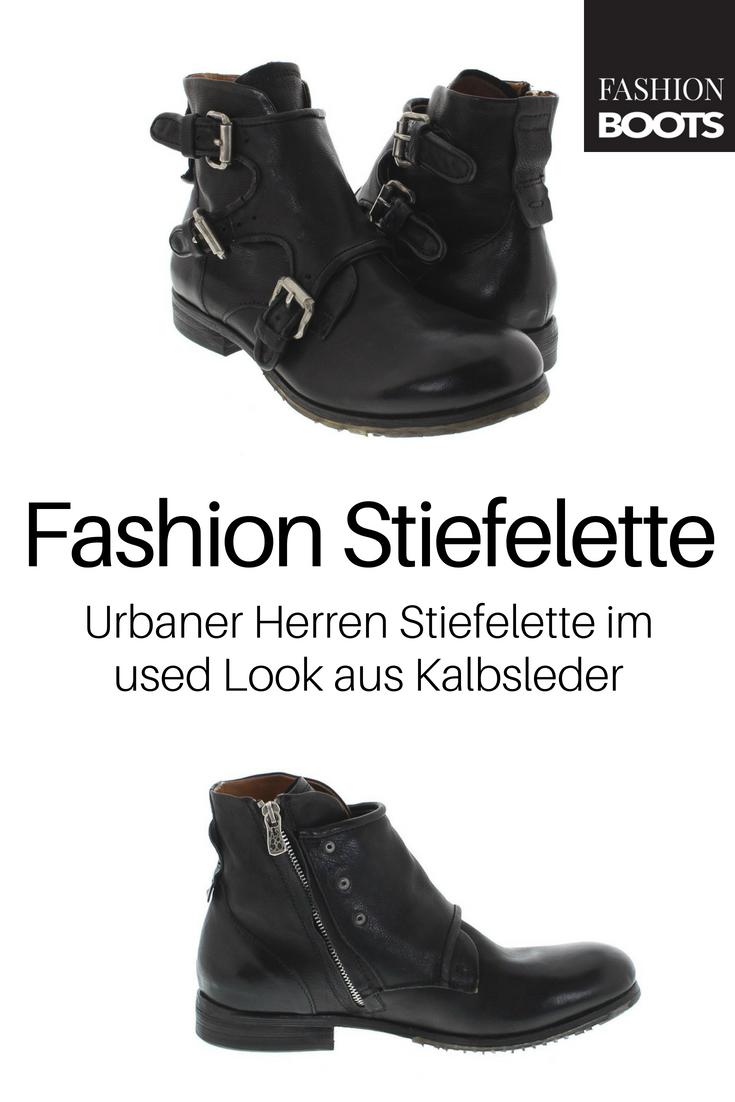 A S 98 401202 Nero Fashion Stiefelette Schwarz Urbaner Herren Stiefelette Im Used Look Herren Stiefeletten Schwarz Herren Boots Schwarz Stiefeletten Herren