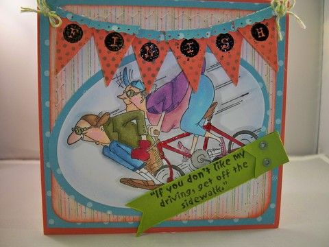 What a great pair! Bikers card by Crystal Lopez!