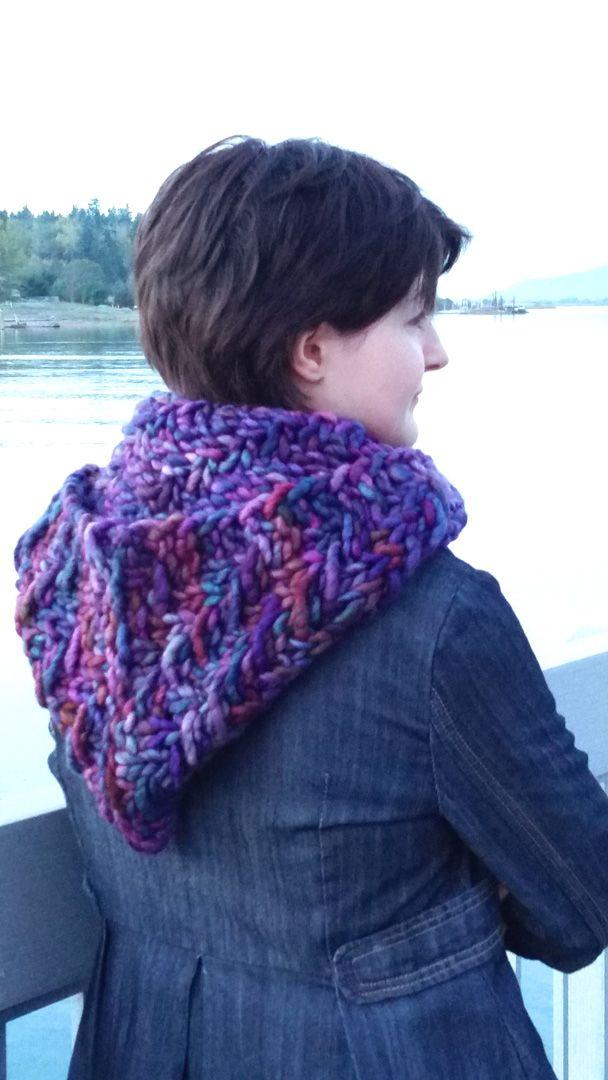 Amethyst Falls Hooded Cowl Free Pattern | Free Knitting Loom ...