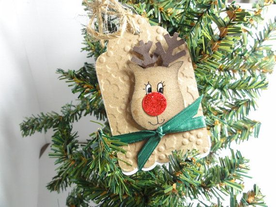 Christmas gift tag set of 4 by cdesignsbycecelia on Etsy, $4.95