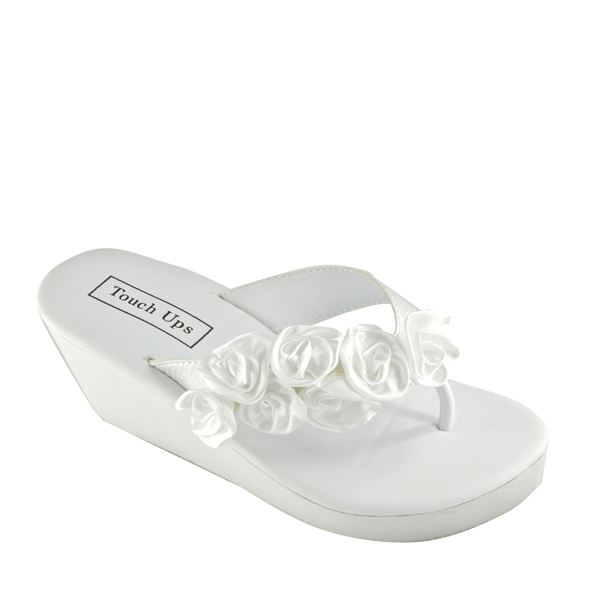 260424c5c491b Bridal flip flops in White, Ivory, Silver, and Black for brides and ...