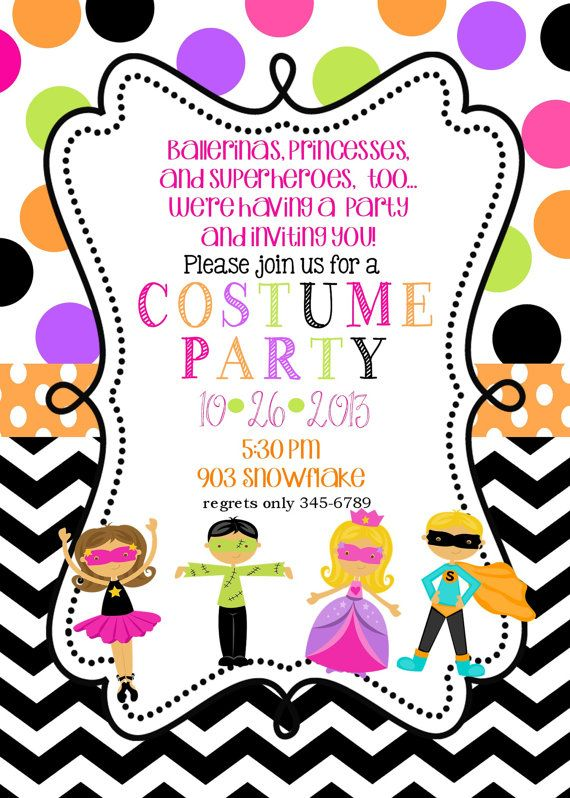 Hey i found this really awesome etsy listing at httpsetsy 12 costume birthday party invitations with envelopes fall halloween by noteablechic on etsy stopboris Gallery