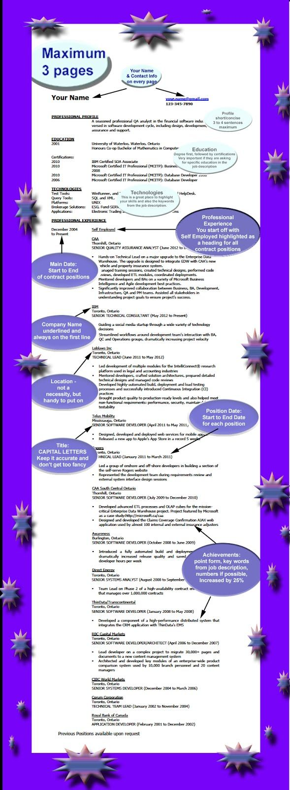 Self Employed Resume How To Be Successful Resume Infographic