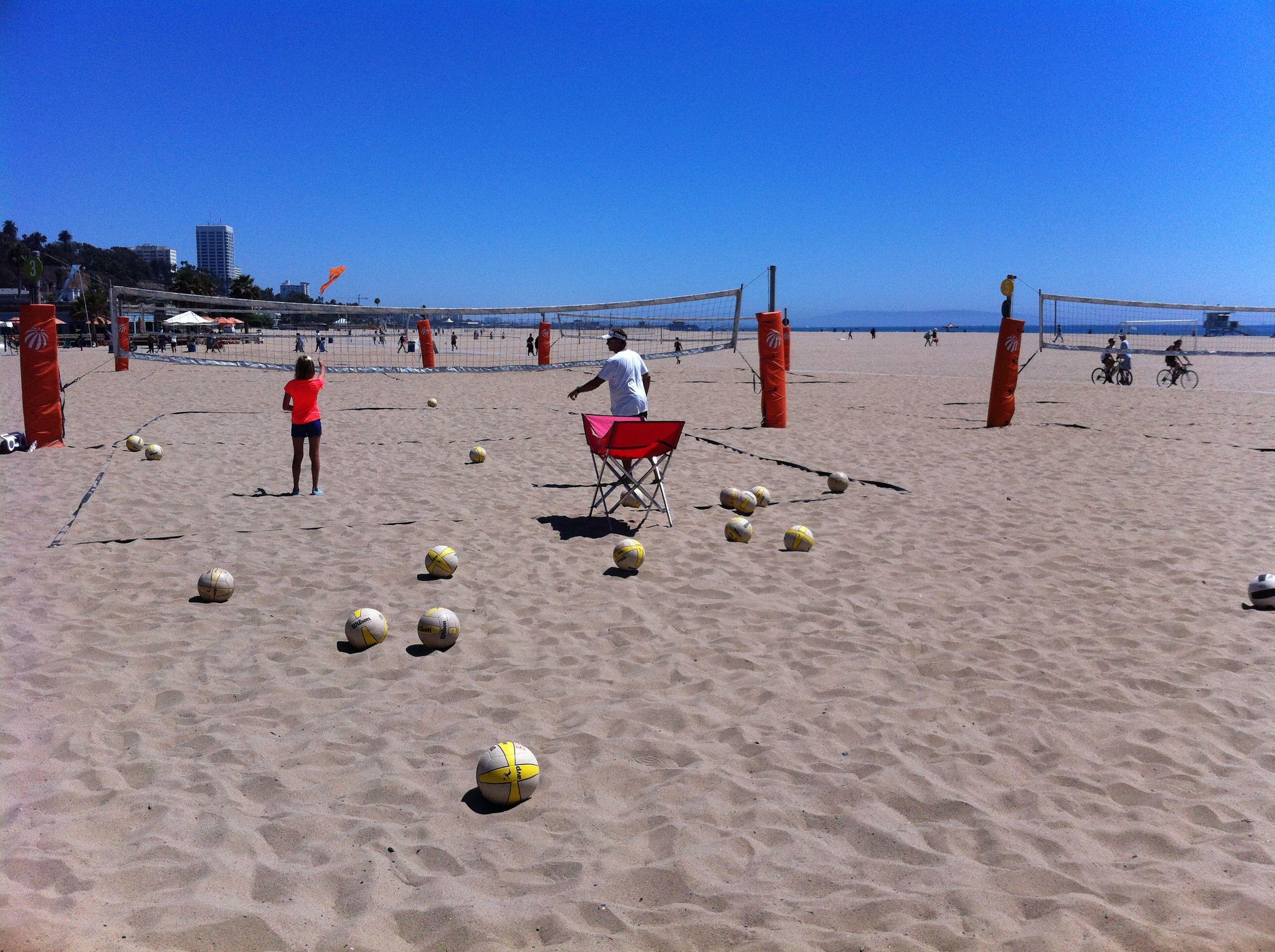 Santa Monica Beach Volleyball Practice August 2012 Monica Beach Santa Monica Beach Santa Monica