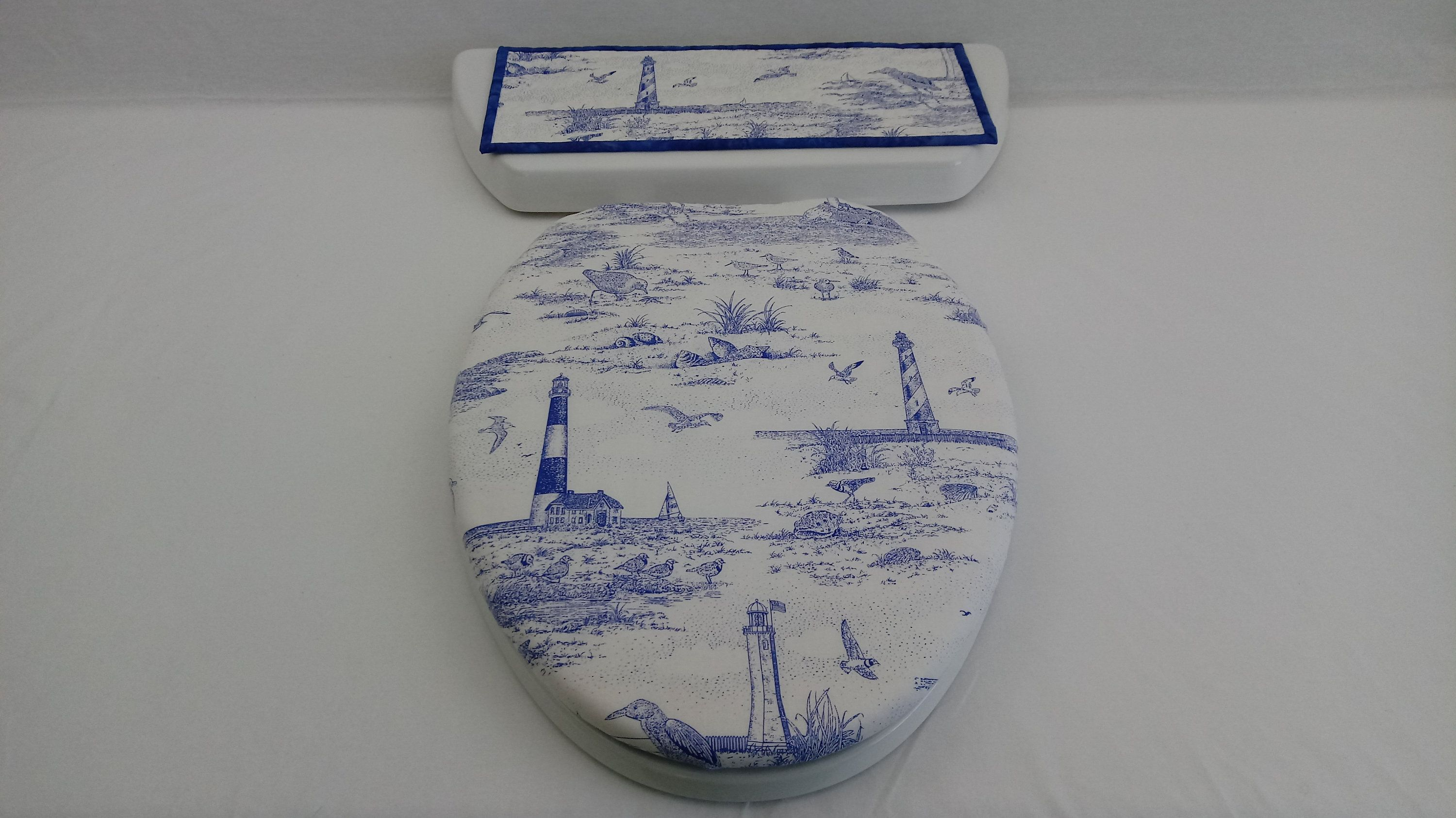 Groovy Lighthouse Toilet Seat Cover Set Toilet Tank Lid Topper Machost Co Dining Chair Design Ideas Machostcouk