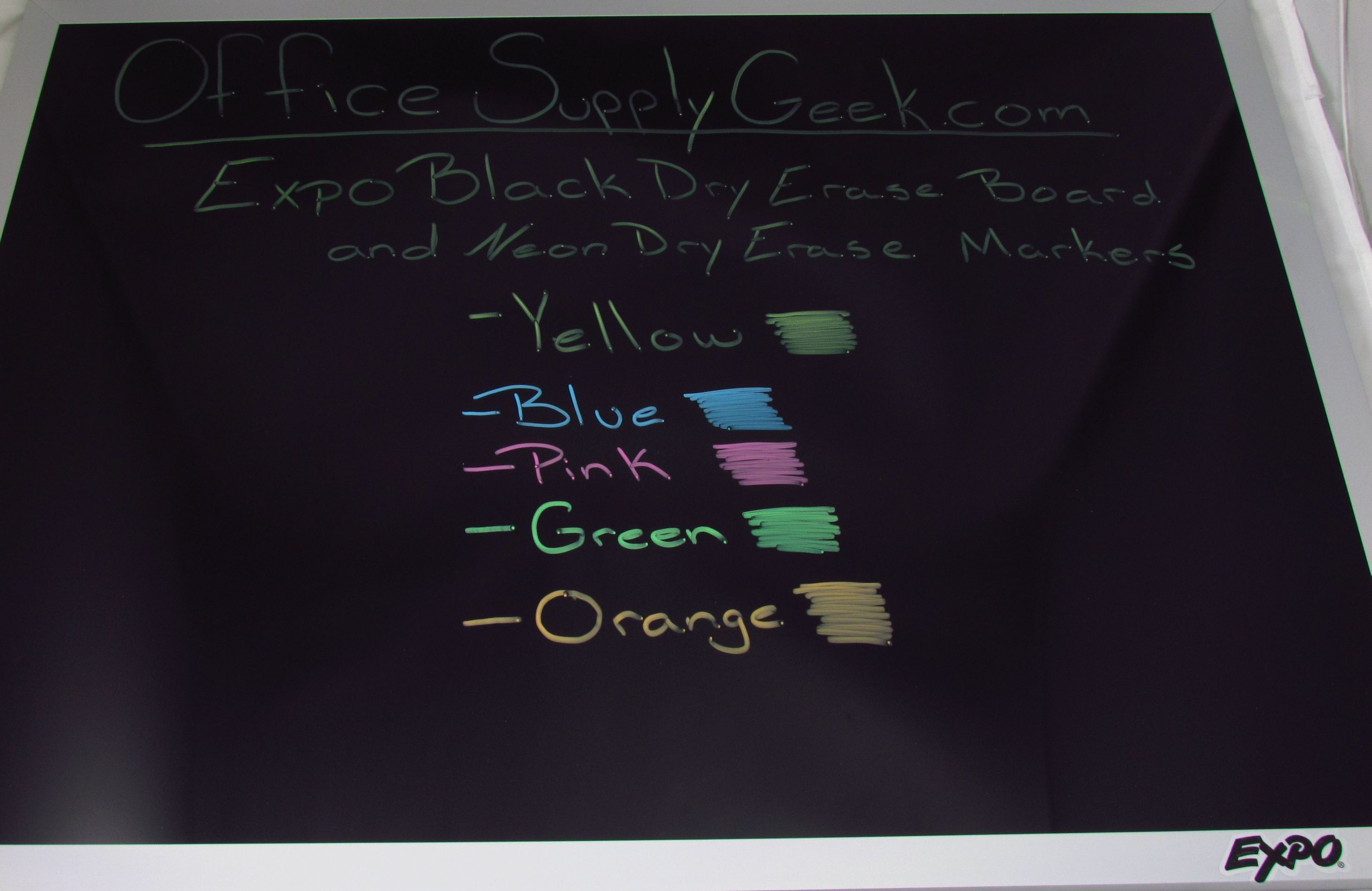 Expo Black Dry Erase Board And Neon Markers