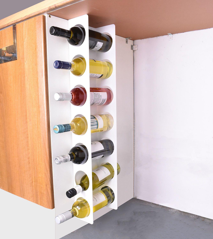 Kitchen Under Cabinet Space Filler Wine Rack 7 Bottle Holder