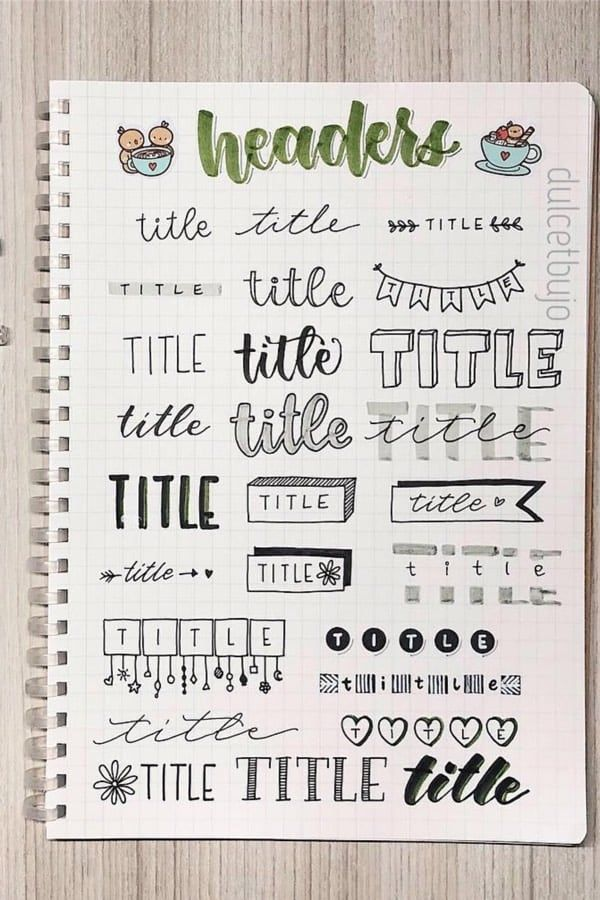 35+ Best Bullet Journal Header & Title Ideas For 2020 - Crazy Laura