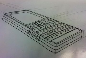 This is another 2 point perspective showing a drawing of a mobile phone, you can see depth in it as it gradually gets to 3D.