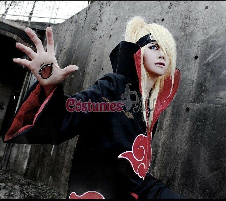 Naruto Akatsuki Costume Cloak Robe Anime Cosplay Uchiha Sasuke Itachi Outfits