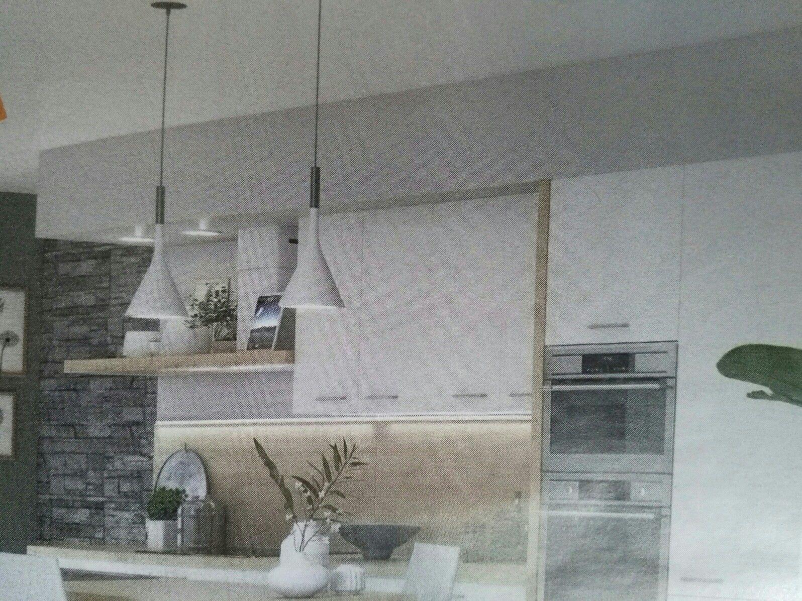Coffrage au dessus meubles cuisine  Meuble cuisine, Mobilier de