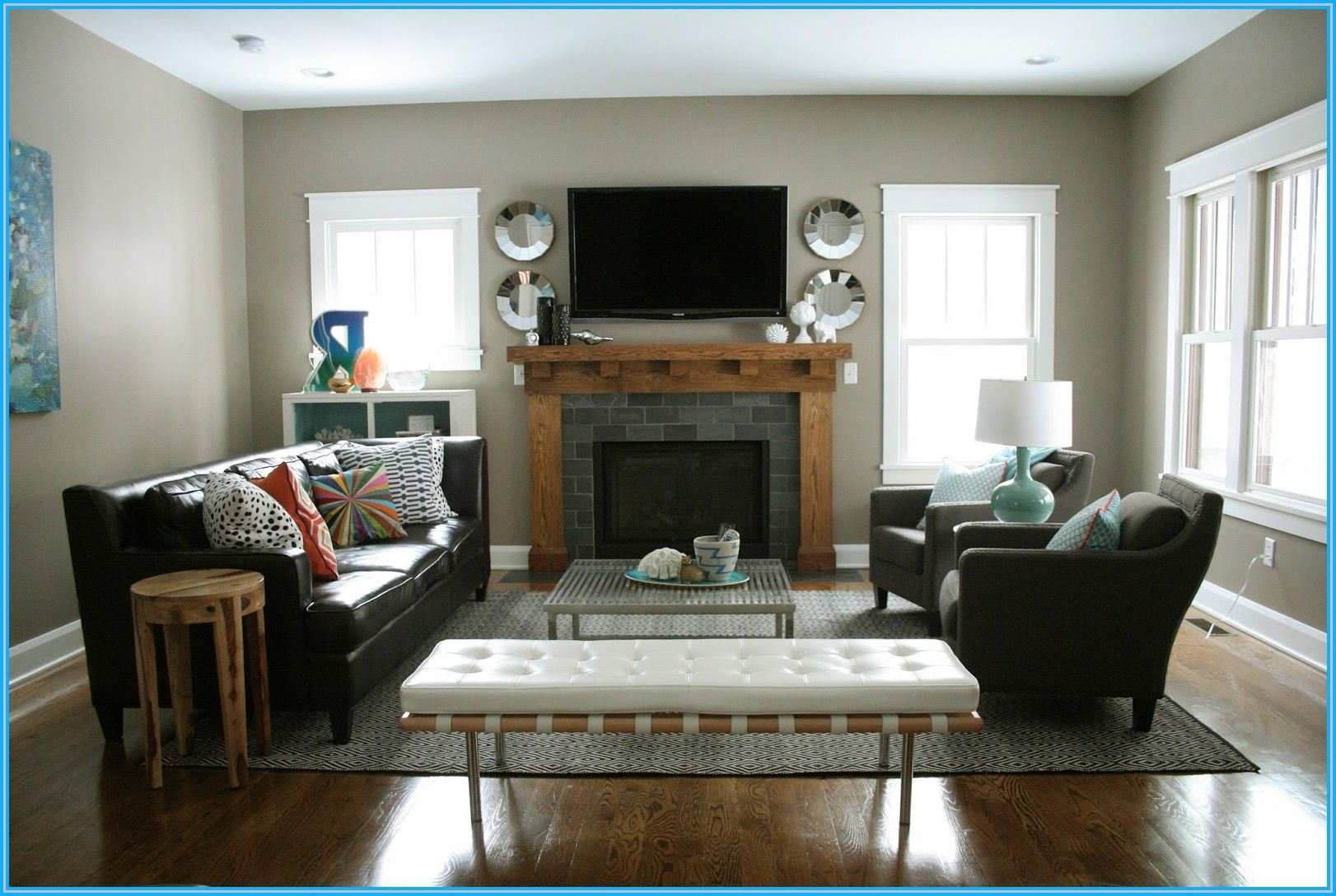 Living Room Mantel W Tv Layout Livingroom Layout Small Living
