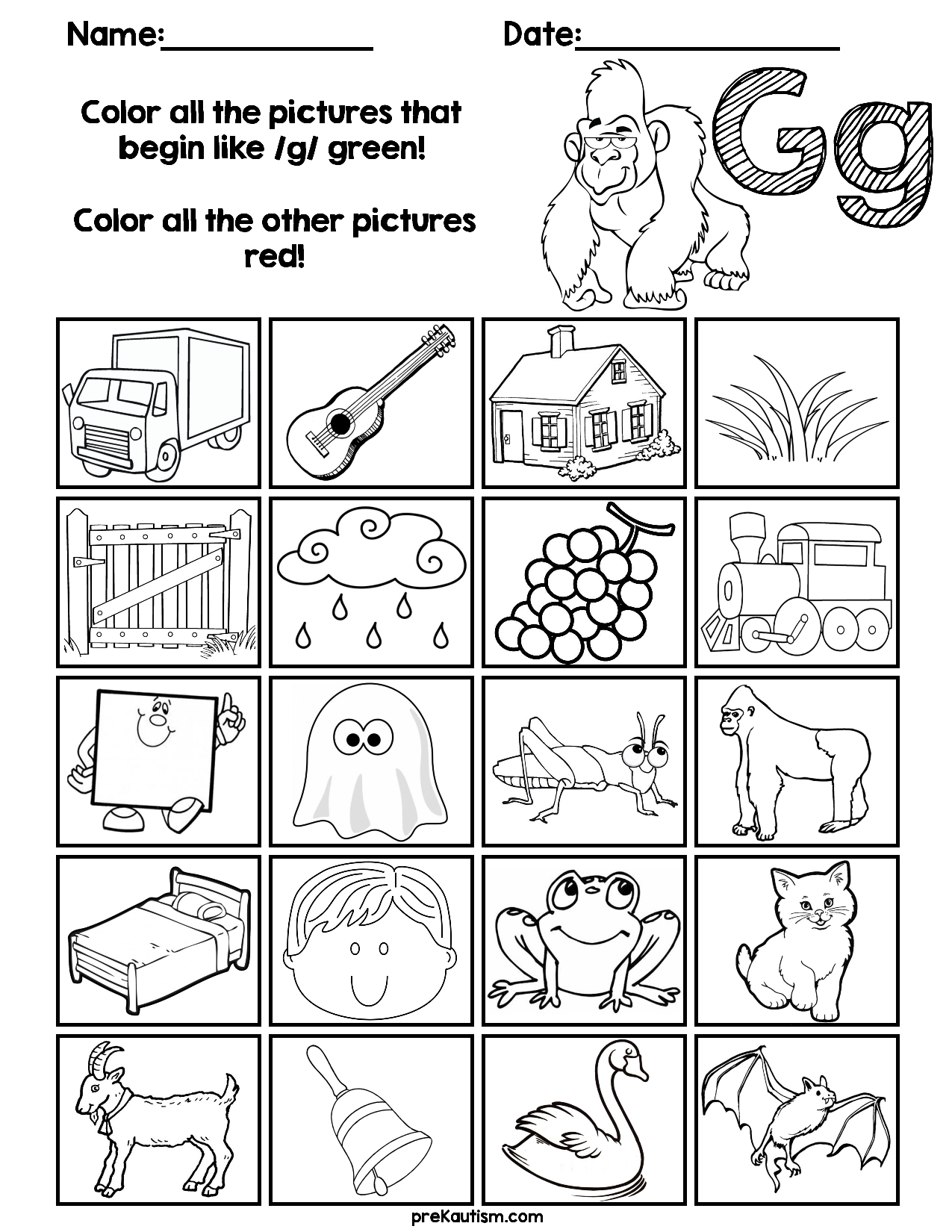 Find Amp Color Consonants Worksheets