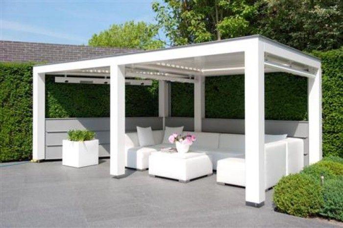 Afdak idee buiten natuur tuin bloemen pinterest - Modern prieel aluminium ...
