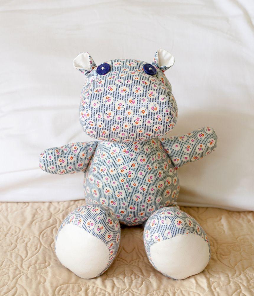 Lucy Blaire • Henrietta Hippo PDF Sewing Pattern | Stuffed Friends ...