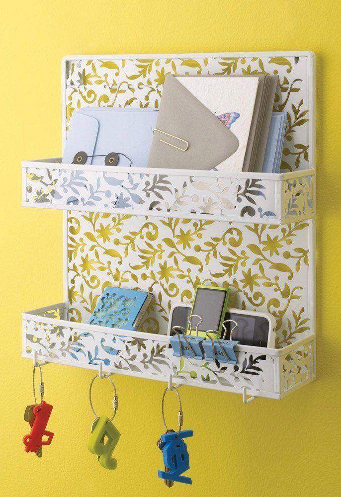 Amazon.com - Design Ideas Vinea Spice Rack, White - Mail Organizer ...