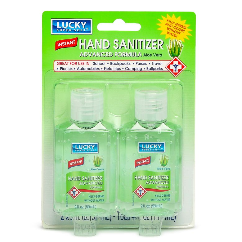 Lucky Super Soft Hand Sanitizer With Aloe 2 Oz 2 Count Hand