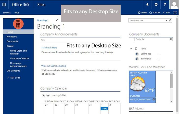 SharePoint Team Site Template is one of the formats that uses the