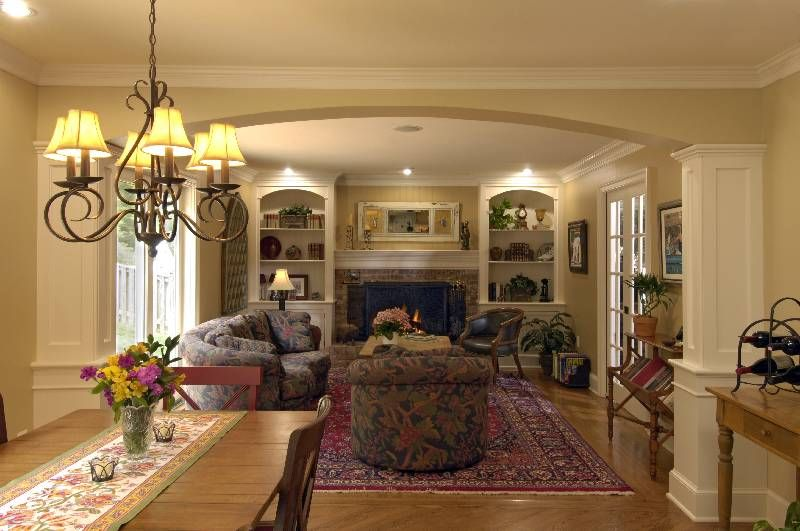 Family Room Open Family Room Addition And An Unscrambled Kitchen - Extraordinary kitchen lighting layout design simple home pictures