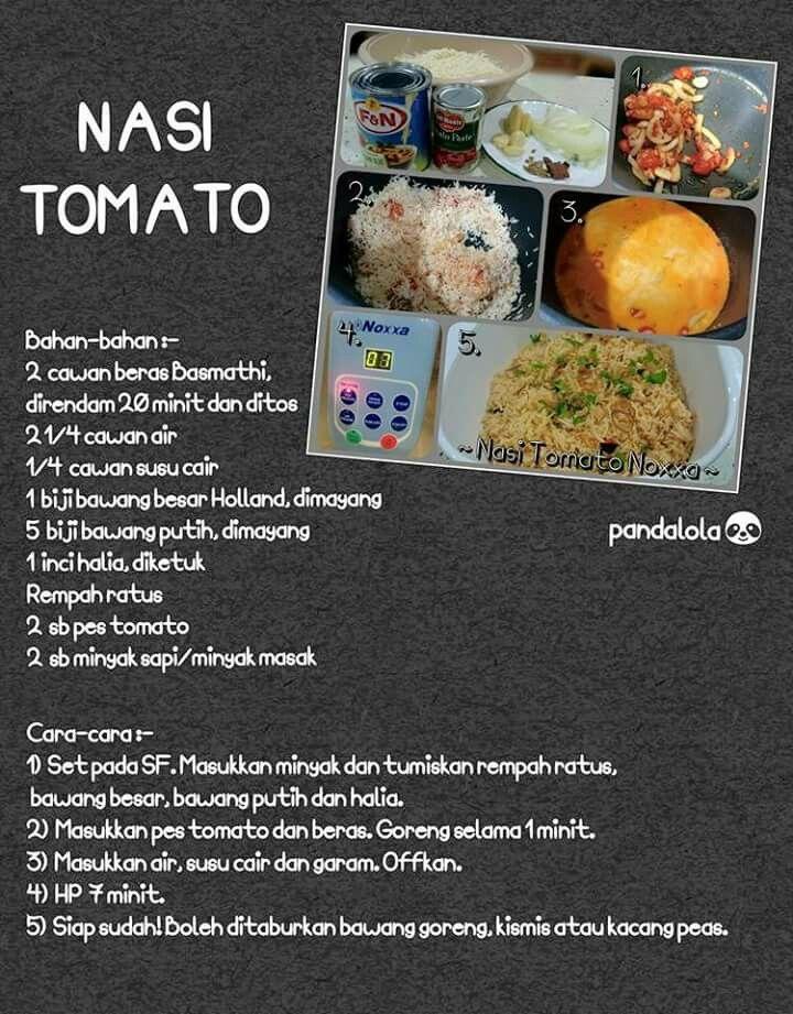 Nasi Tomato Recipes Pressure Cooker Recipes Food
