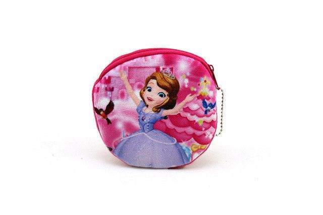 YIYOHI New Kawaii Cartoon Elsa The First Children Plush Coin Purse Zip Change Purse Wallet Kids Girl Women For Gift