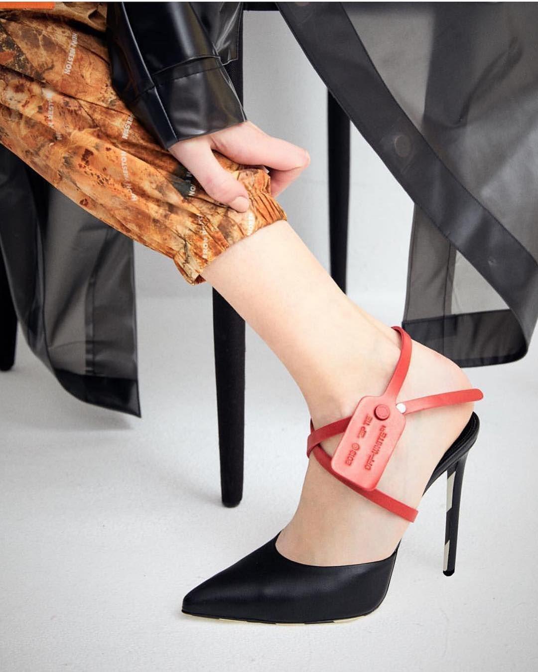 """680303d0a67d6 Off-White™ on Instagram: """"women's Off-White™ """"zip-tie"""" heels @brownsfashion"""""""
