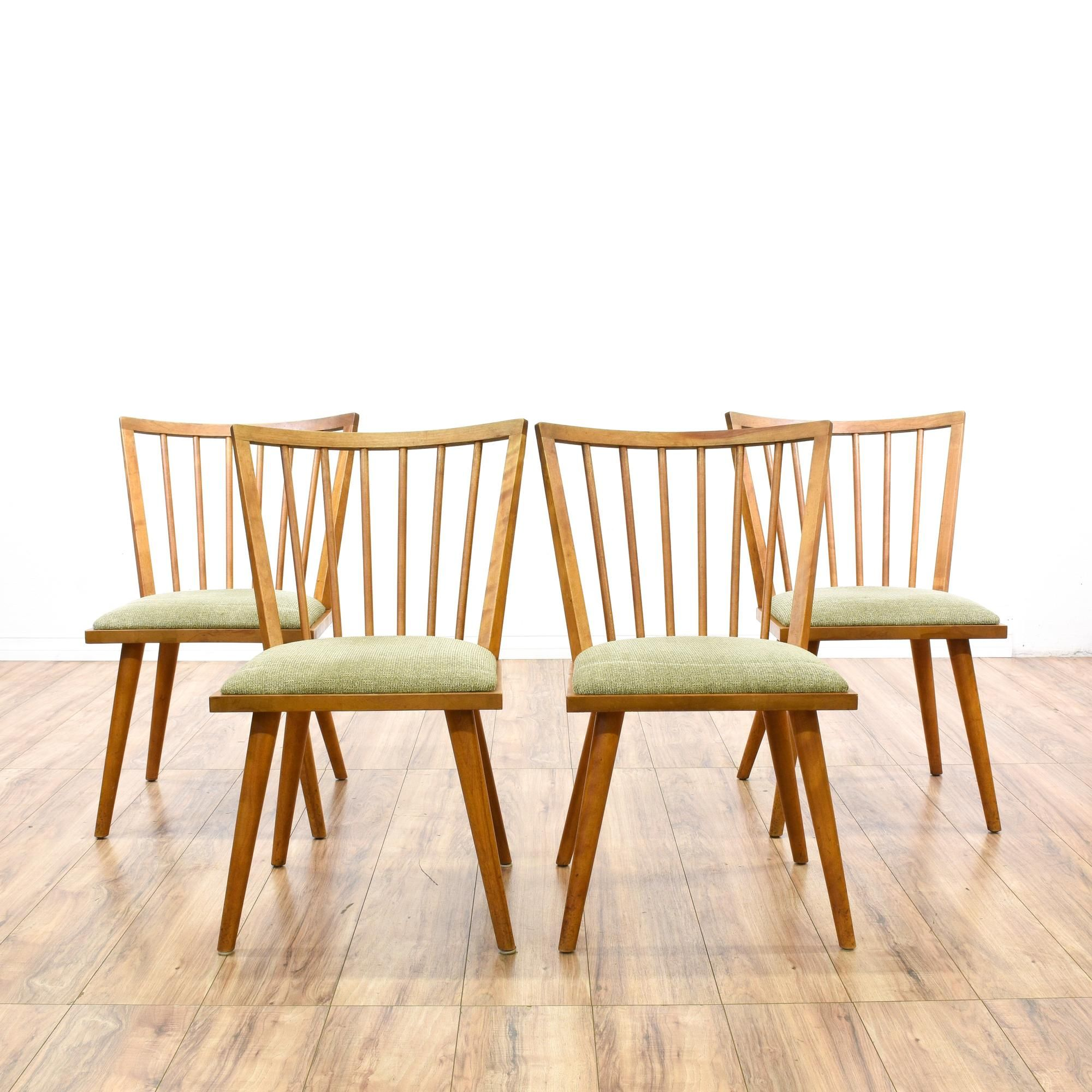 These Russel Wright For Conant Ball Dining Chairs Are Featured