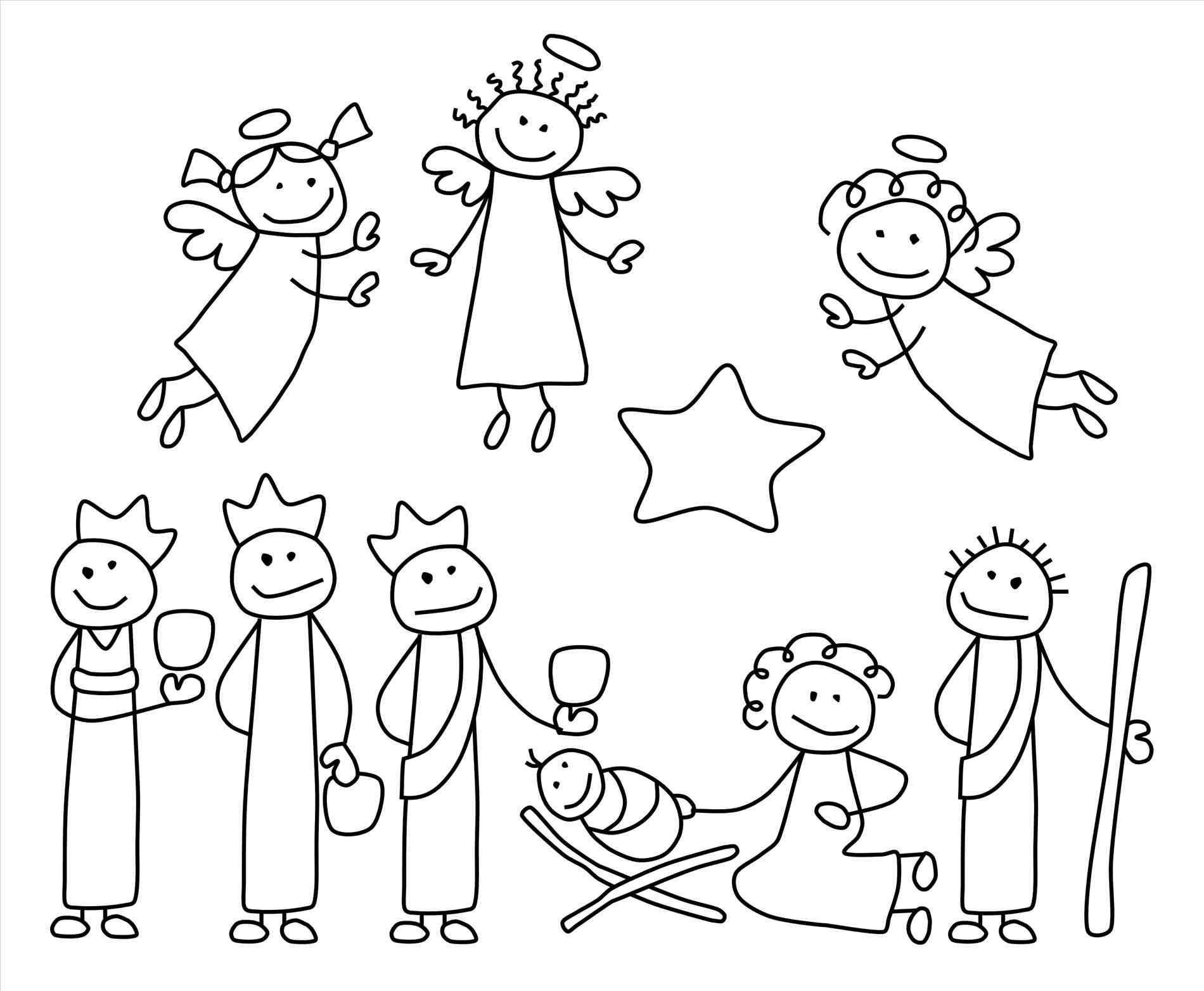 New post christmas manger clipart black and white xmast
