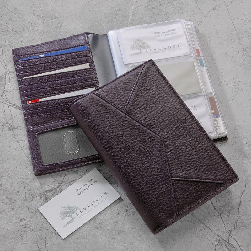 Envelope Business Card Organizer A Mini Leather Portfolio For Business Card Organization Durably Wallets For Women Leather Bag Women Business Card Organizer