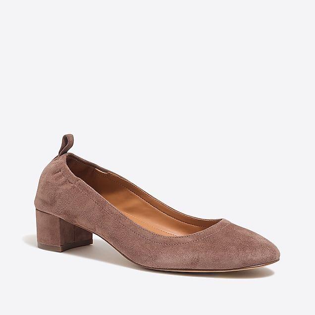 333bd107330 anya suede block heels   factorywomen heels