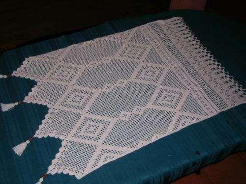 Cortinas a crochet para ba o imagui more tejido for Visillos para banos