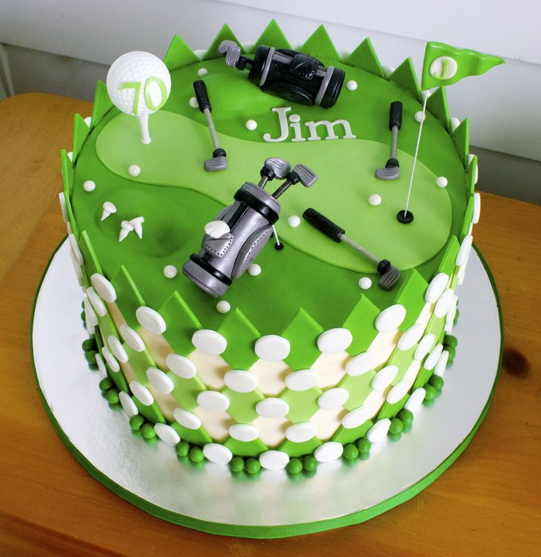 golf themed birthday cake 70th birthday bash Pinterest