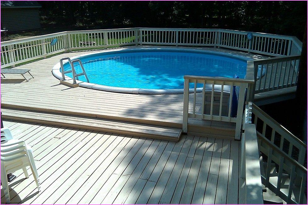 above ground pool deck ideas wood | home design ideas | bear