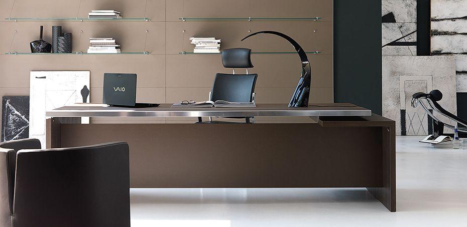 Mesas escrit rio moderna athos por ivm escritorio for Mesa escritorio moderna