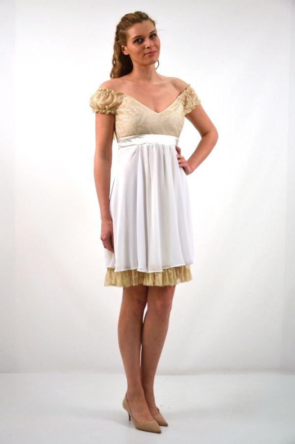 Φόρεμα κοντό με μανίκι πριγκιπέσσας  45a3f5fda0c