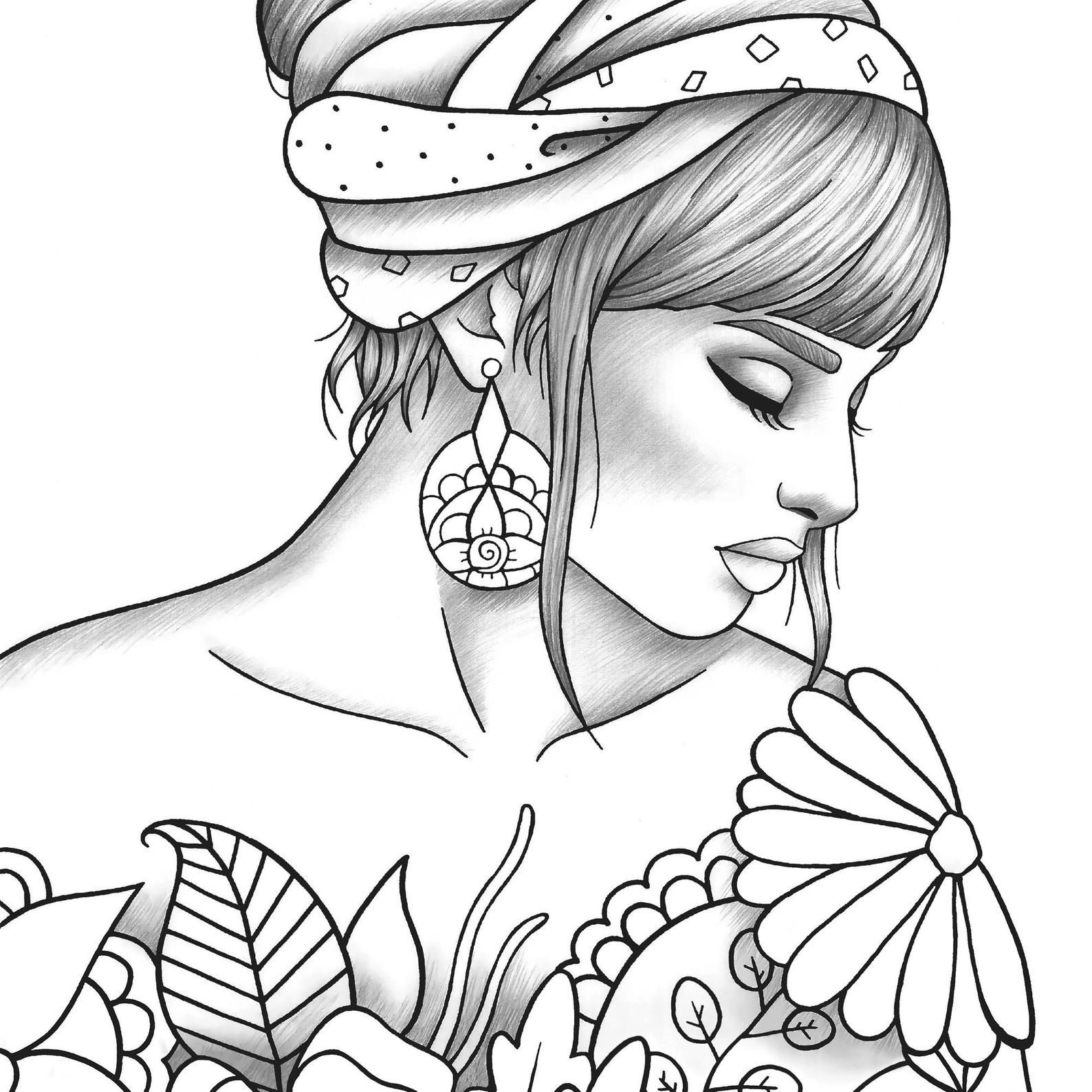 Girly Coloring Pages For Teens In 2020 Coloring Pages For Teenagers Coloring Pages For Girls Horse Coloring Pages