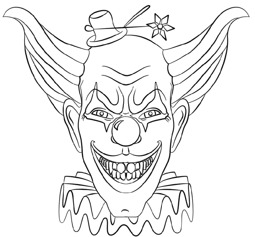 Scary Clown Coloring Pages Halloween Educative Printable Scary Clown Drawing Scary Clown Face Halloween Coloring