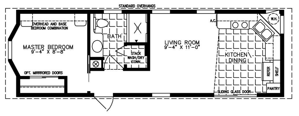 The deloro cottage dc 3371a park model home floor plan jacobsen homes
