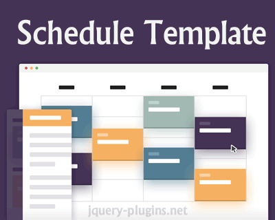 Schedule Template With Css And Jquery Css Schedule Jquery